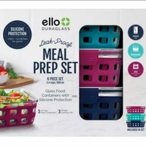 Ello Meal Prep Food Storage Container Starter Pack